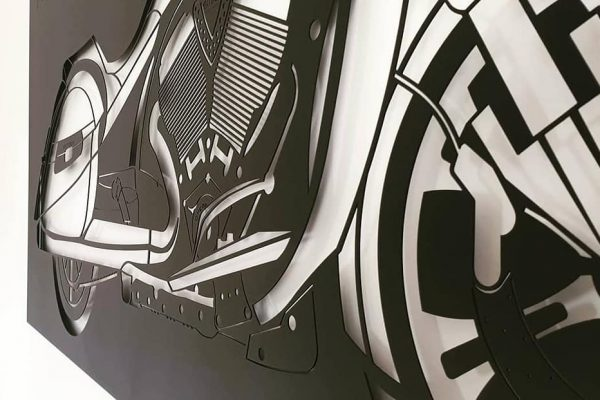 Fabryka Pomyslow-Motor-prezent-stal czarna ozdoba-stal2