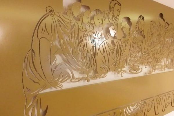 Fabryka Pomyslow-obraz Ostatnia Wieczerza-złoto-stal
