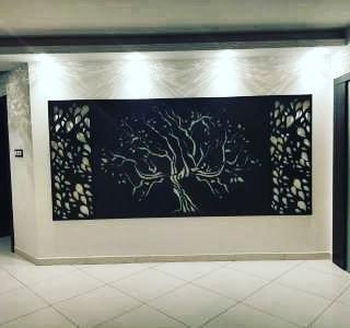 Fabryka Pomyslow-obraz-panele scienne-drzewo-liscie-duzy format